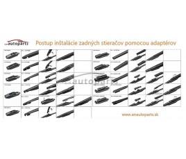 E&N Wycieraczka na tył do ALFA ROMEO 147  (2000 - 2010) 325mm