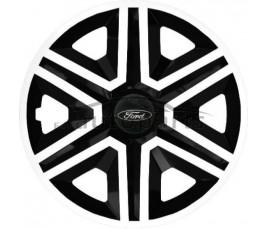 """Kołpaki zgodne  Ford 15"""" Action Bielo - Čierne"""