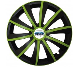 "Kołpaki zgodne  Ford 14"" GRAL zeleno - czarny"