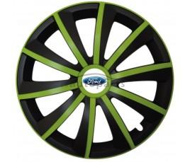 "Kołpaki zgodne  Ford 15"" GRAL zeleno - czarny"
