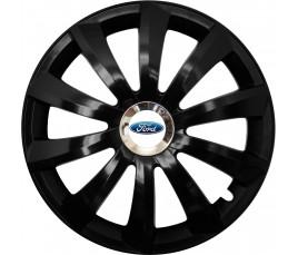 """Kołpaki zgodne  Ford 15"""" GRAL Chrome czarny"""