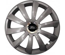 "Kołpaki zgodne  Ford 15"" GRAL Chrome grafit"
