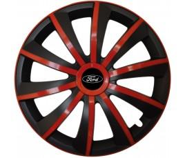 """Kołpaki zgodne  Ford 15"""" GRAL červeno - czarny"""